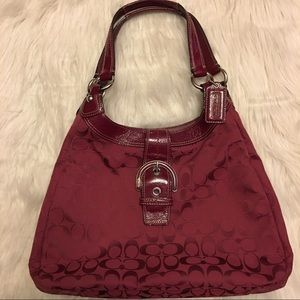 Coach Handbags - Authentic Crimson Coach Soho Lynn Signature Hobo