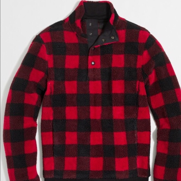 f42dee89 J. Crew Jackets & Coats | J Crew Buffalo Plaid Shearling Fleece ...