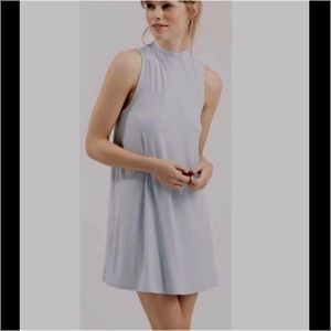 Topshop Dresses & Skirts - 🌟Re-Posh🌟Pale Blue High Neck Jersey Tunic Dress