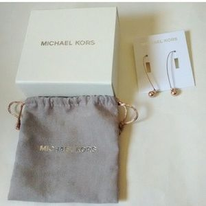 Michael Kors Jewelry - MICHAEL KORS Rose Goldtone Drop Earrings with Box