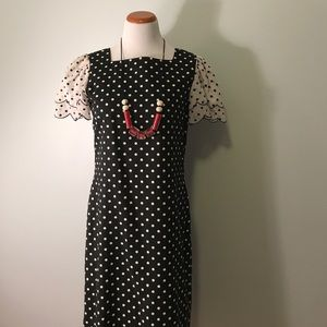 Vintage 1980's polka dot dress