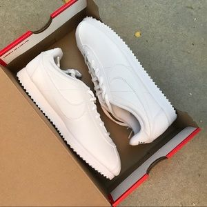 05b6c77e1cf7 Nike Shoes - NWB 👟 NIKE CORTEZ TRIPLE WHITE ALL LEATHER