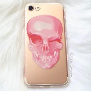 Brandy Melville Accessories - Skull iPhone 7/7+ Case