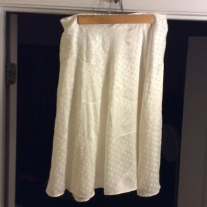 Woman's Creme Poka Dot skirt