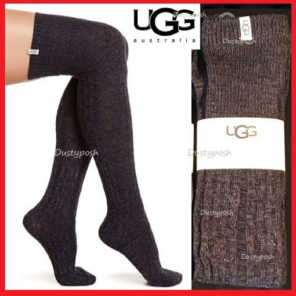 375189ac6d782 UGG Accessories | Over Knee Socks Cable Knit Thigh High Boot New ...