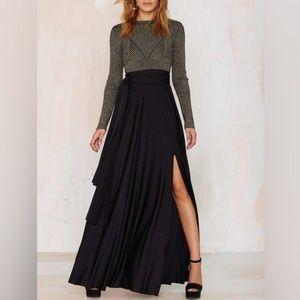 LAST sz SM | Flowy Slit Maxi Skirt