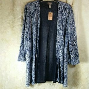 Chico's Tops - NWT Chicos Lace Open Cardigan Ellie Jacket Size 3