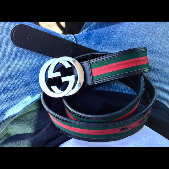 d4e9f6c24 NEW GUCCI Belt Authentic Black Red Green GG Buckle. Listing Price: $160.00.  Your Offer