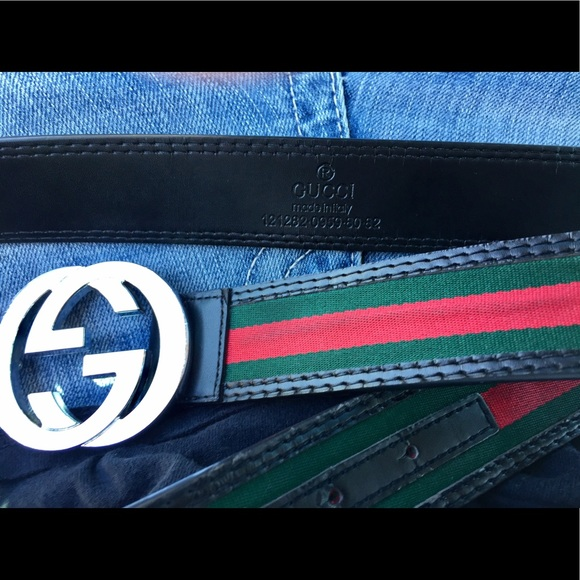 Gucci Belt Serial Number >> 60% off Gucci Other - NEW GUCCI Belt Authentic Black Red Green GG Buckle from Russ's closet on ...