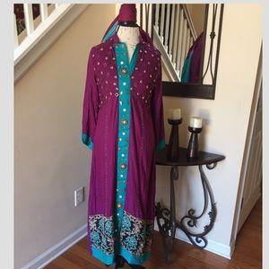 Dresses & Skirts - Long Slit Winter dress Indian Shalwar Kameez