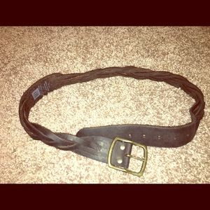 Braided Leather Gap Belt