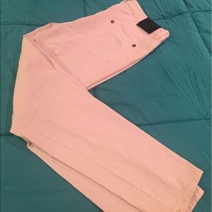 Vince Camuto white skinny crops