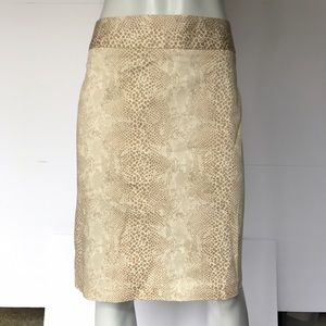 Willi Smith Dresses & Skirts - {willi smith} cream and tan patterned skirt