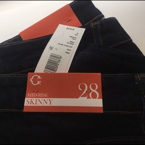FINAL!NWT C. Wonder dark navy jeans midrise skinny