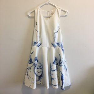 KEEPSAKE the Label Dresses & Skirts - Blue and Ivory Printed Mini Dress