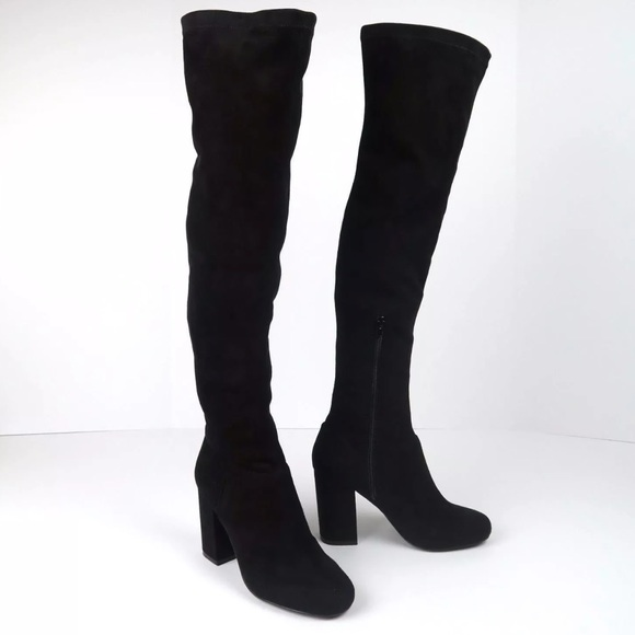 789a6de80f8 Steve Madden over the knee black faux suede boots