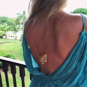Butterfly Gold Body Chain