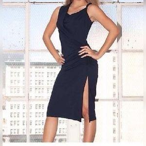 Black Michelle Jonas Grecian Twist Dress BNWT LBD