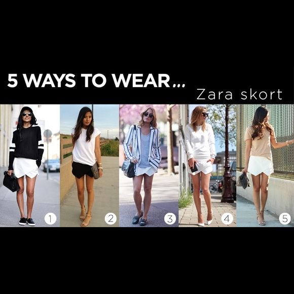 Zara - Zara origami skirt xs 24 black from K's closet on ... - photo#31