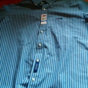 Chaps Other - Men's stripped Chaps dress shirt