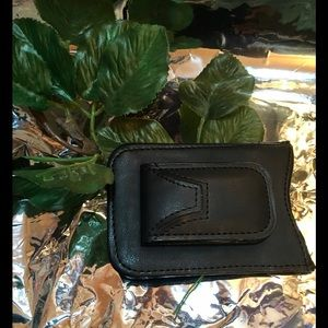 Other - Money Clip Black Leather