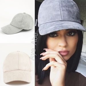 Accessories - New baseball faux suede baseball cap beige or gray