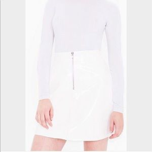American Apparel White Vinyl Skirt