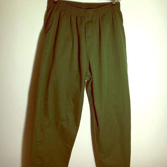 Olive Green Elastic Waist Pants. Size 18W