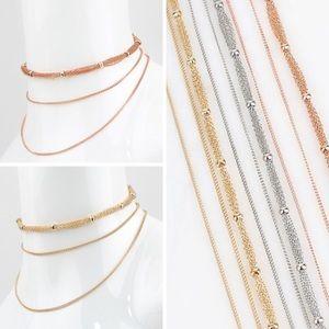 Jewelry - New multi layer choker chain necklace trendy