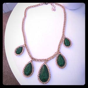 Amrita Singh Jewelry - Amrita Singh emerald green and gold necklace