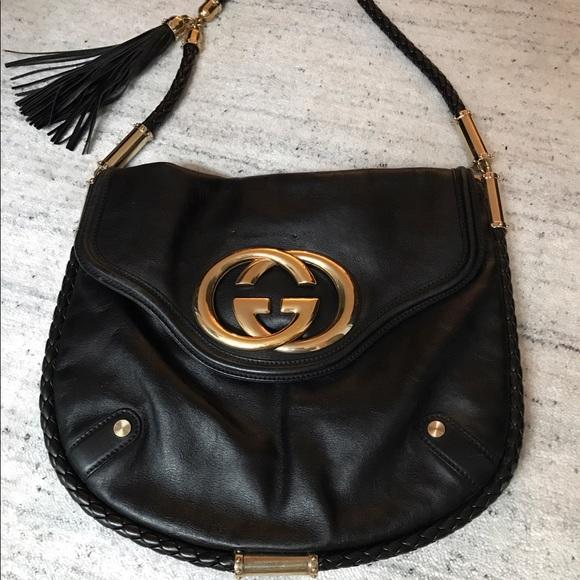 f3b44afb88e Gucci Handbags - Gucci black leather Britt tassel bag