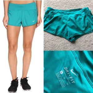 Nike Pants - NWT Nike running shorts teal xl green dri fit