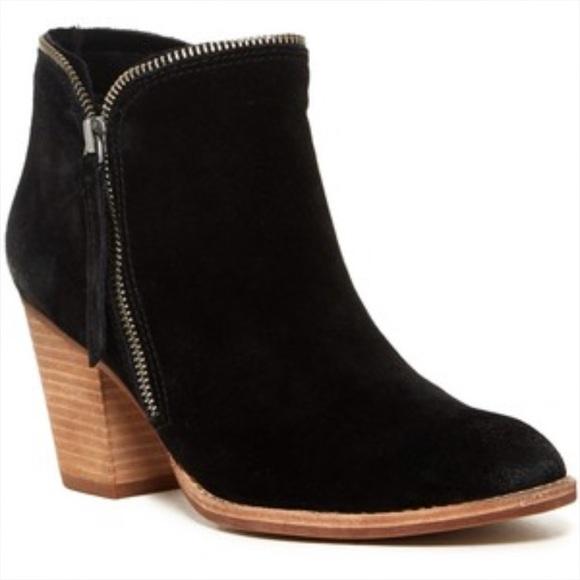 494544ab73f Dolce Vita Shoes | Jana Bootie Black Suede Size 12 New | Poshmark