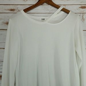 LNA  Tops - LNA White Lightweight  Long Sleeve