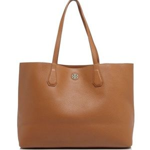 Tory Burch Perry tote in Bark leather. NWT
