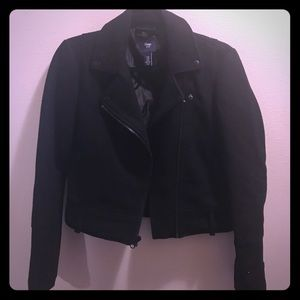 Gap moto jacket black XS knit