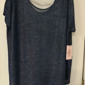 Juicy Couture Tops - Blue short sleeve shirt