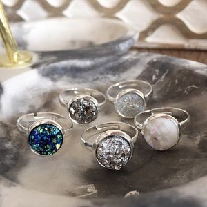 Simple Sanctuary Jewelry - new | Adjustable Druzy Ring