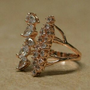 Jewelry - Brand New Rose Gold Cubic Zirconia Crystal Ring