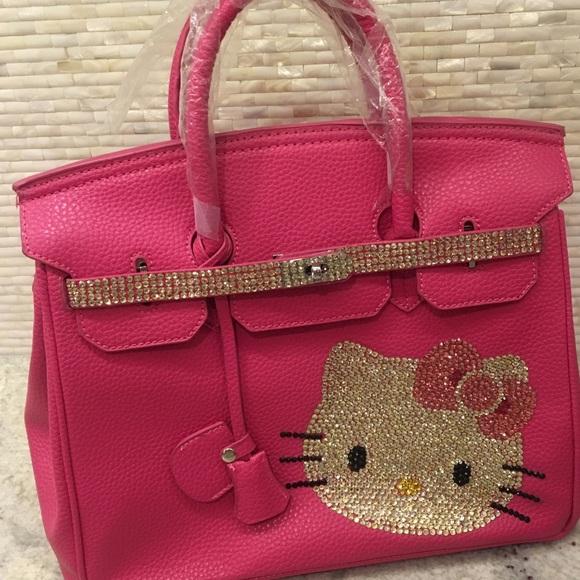 Hello Kitty Birkin Style Bag -Swarovski crystals 27ef00e2878be
