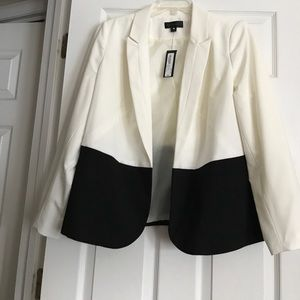 White/Black Blazer by Worthington