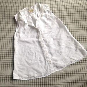 Anthropologie cloth & stone white blouse tank top