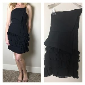Black Halo Dresses & Skirts - Black Halo strapless black party dress size 0