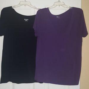 2 Merona V-Neck Shirts