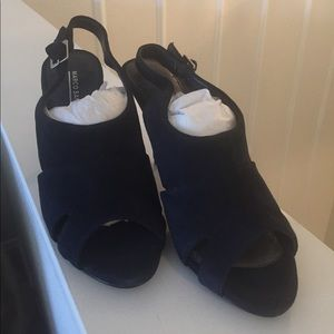 Marco Santi Shoes - Navy Suede open to pumps size 8/38