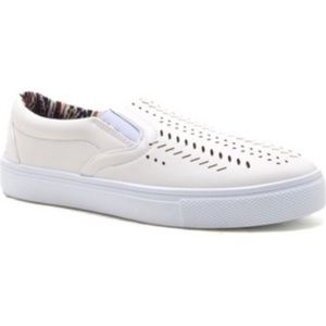 Vans Shoes - 🎉Final Price!🎉White Perforated Slip on Sneakers