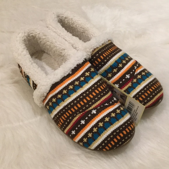 55% off TOMS Shoes - NIB TOMS Earth Woolen Fair Isle Slipper from ...