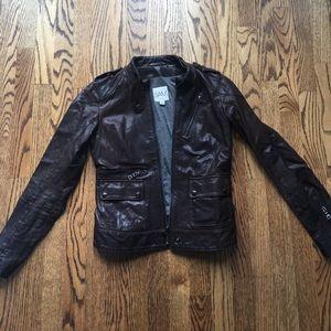 SAM. Jackets & Blazers - SAM dark brown 100% genuine leather jacket XS