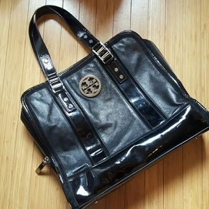 Tory Burch leather and suede trim tote