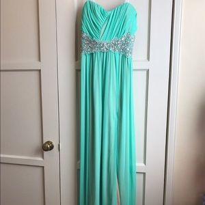 City Triangles Dresses & Skirts - Long strapless floor length dress